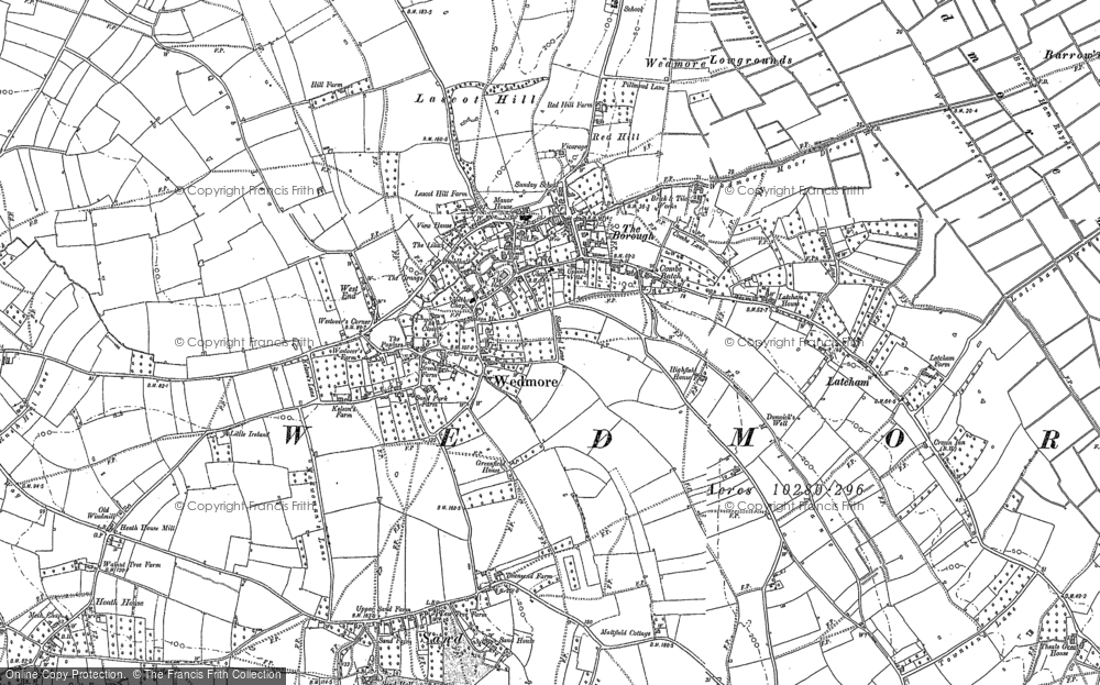 Old Map of Historic Map covering Lascot Hill in 1884