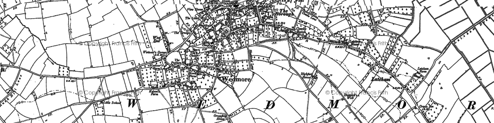 Old map of Wedmore in 1884