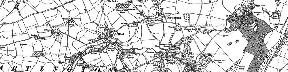 Old map of Westcombe in 1886