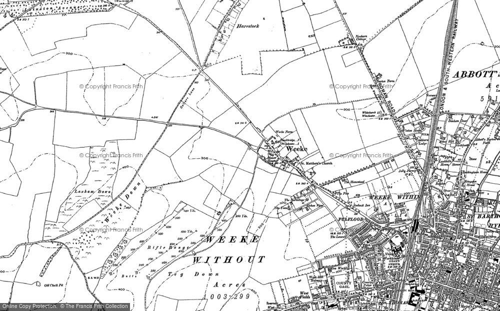 Old Map of Weeke, 1895 in 1895