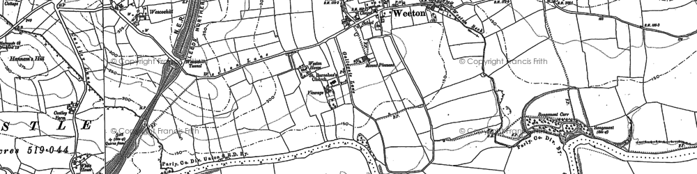 Old map of Arthington Pastures in 1888