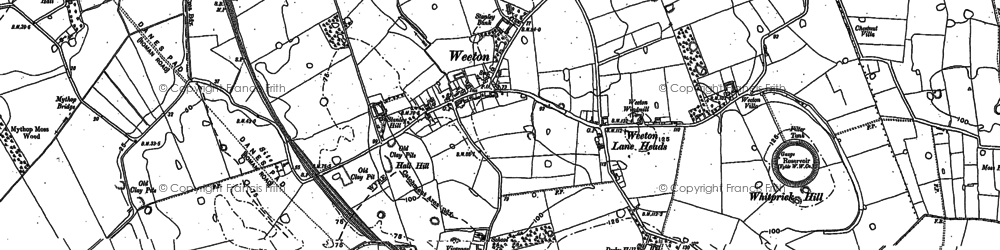 Old map of Todderstaffe Hall in 1891