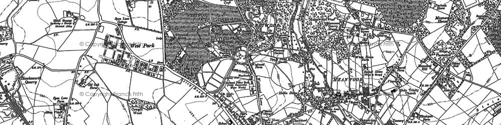 Old map of Far Headingley in 1890