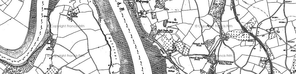 Old map of Weir Quay in 1905