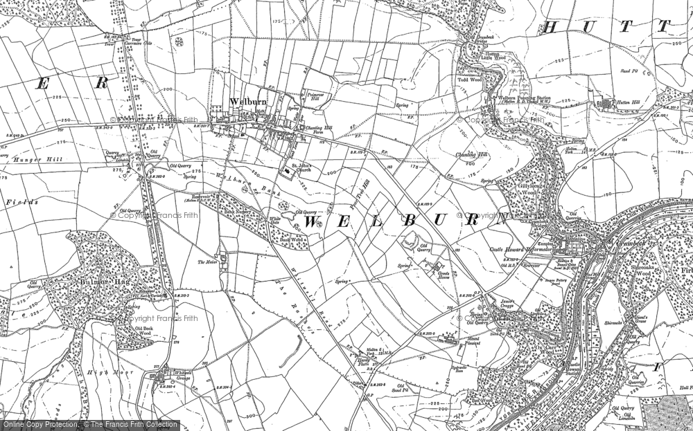 Old Map of Welburn, 1889 - 1891 in 1889