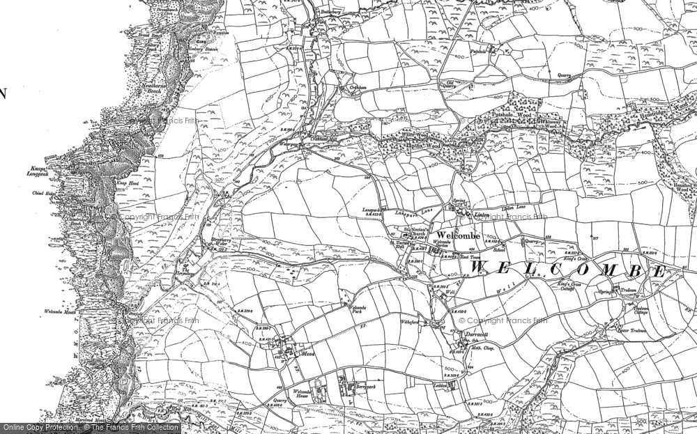 Old Map of Historic Map covering Linton in 1904