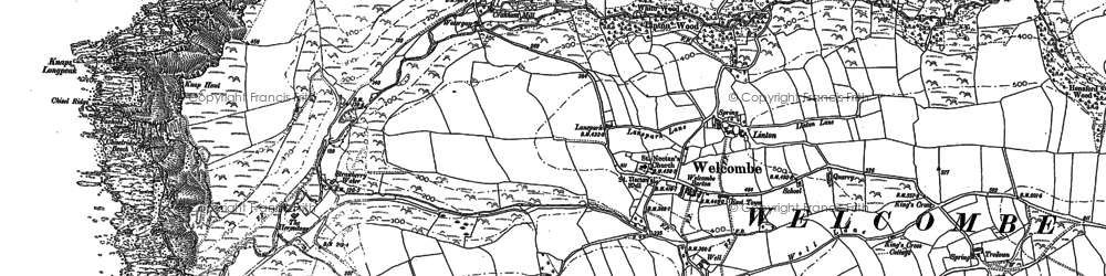 Old map of Linton in 1904