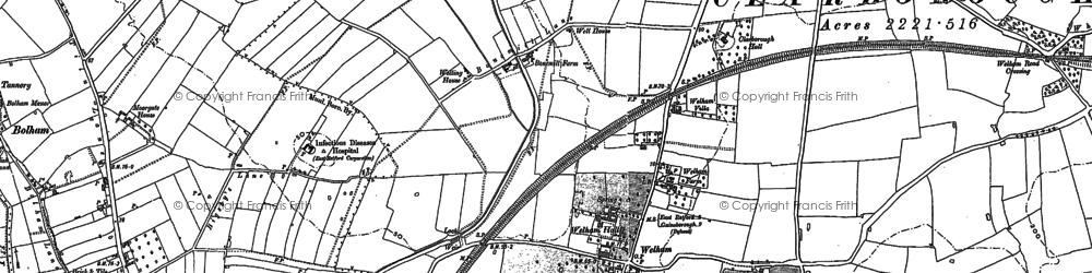 Old map of Balk Field in 1884