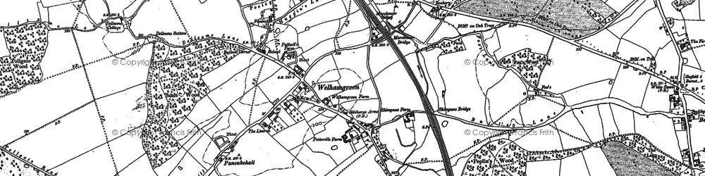 Old map of Woodside Place in 1895