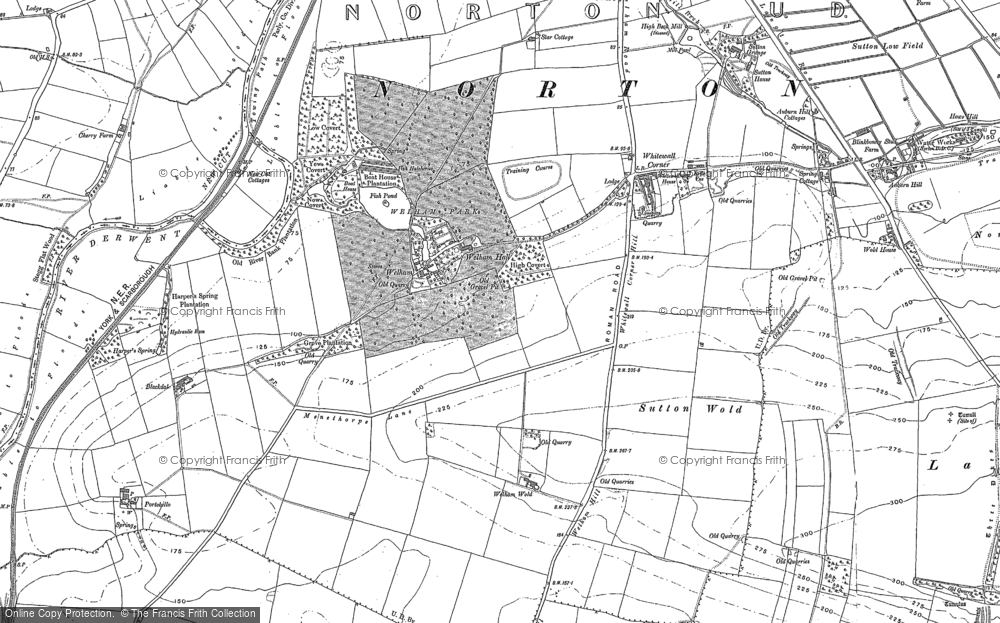Old Map of Historic Map covering Whitegrounds in 1888