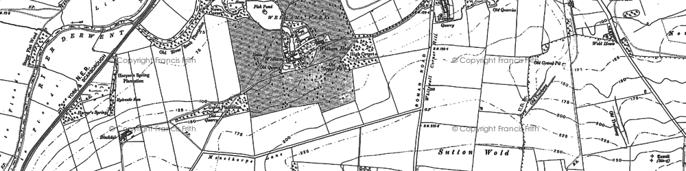 Old map of Whitegrounds in 1888