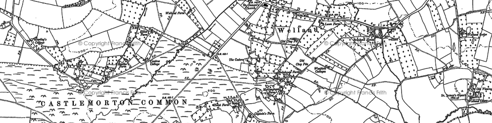 Old map of Welland in 1884