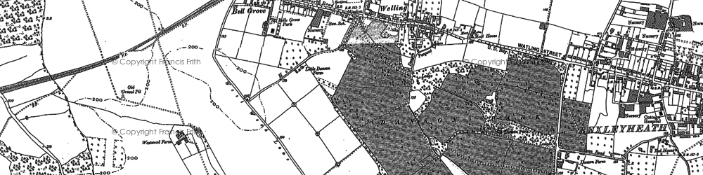 Old map of Bexley in 1894