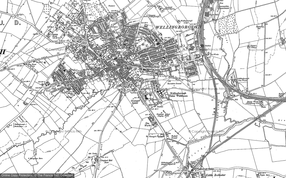 Old Map of Wellingborough, 1885 - 1899 in 1885