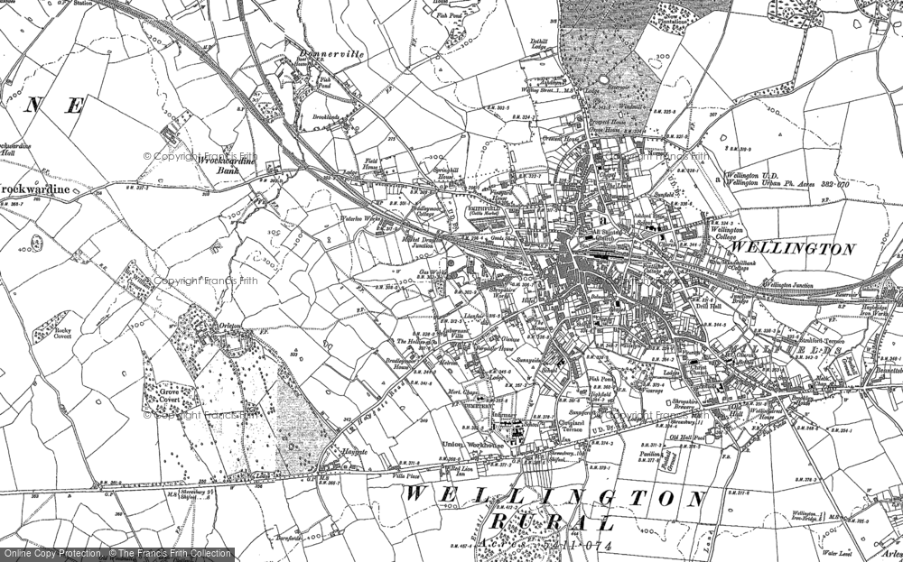 Old Maps of Wellington Francis Frith