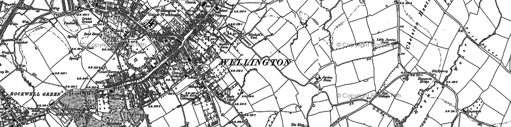 Old map of Wellington in 1887