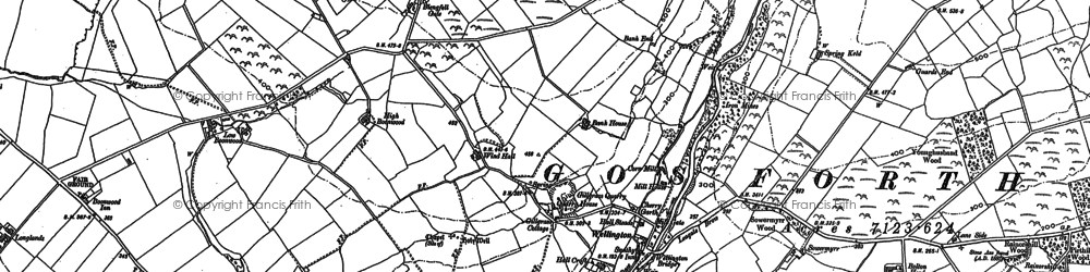 Old map of Whin Garth in 1898