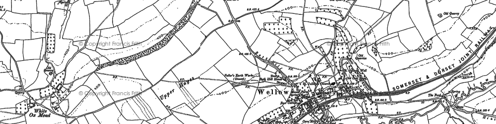 Old map of White Ox Mead in 1884
