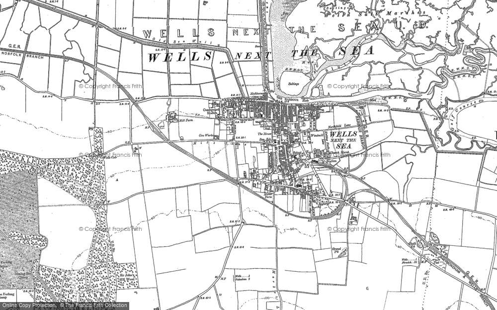 Map of Wells-Next-The-Sea, 1886 - 1904