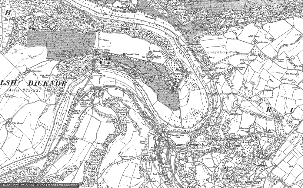 Old Map of Welsh Bicknor, 1903 in 1903