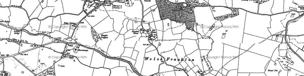 Old map of Kinsale in 1874