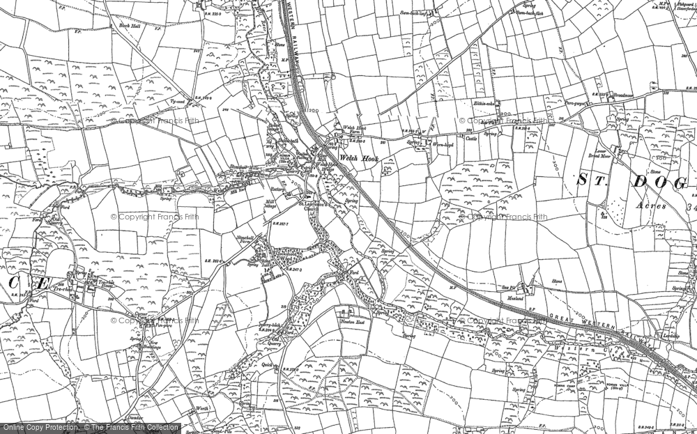 Old Map of Historic Map covering Letterston Moorland in 1887