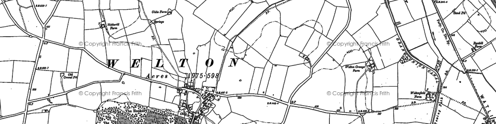 Old map of Welton in 1884