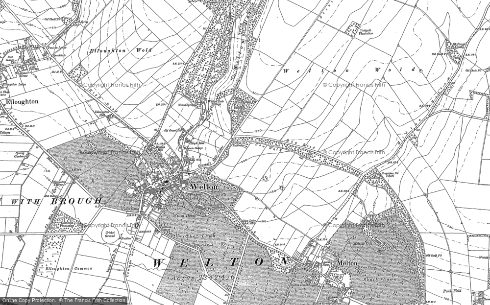 Old Map of Welton, 1888 - 1908 in 1888