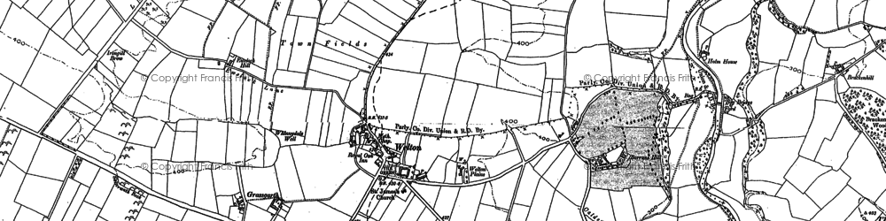 Old map of Thwaites in 1899