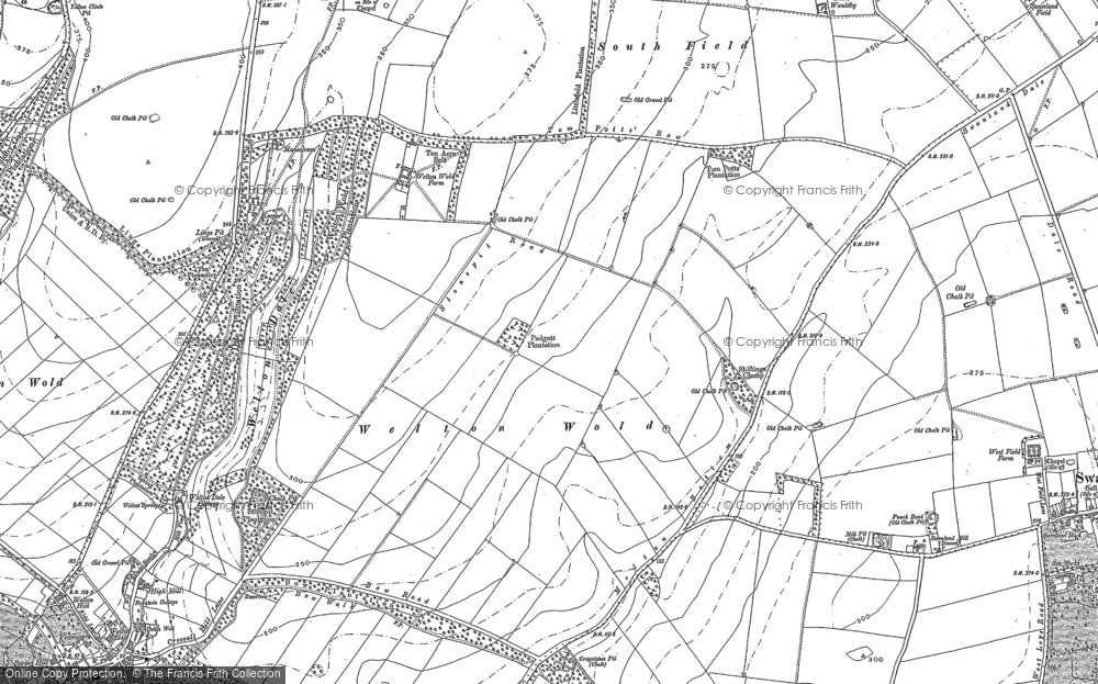 Old Map of Welton Wold, 1888 - 1908 in 1888