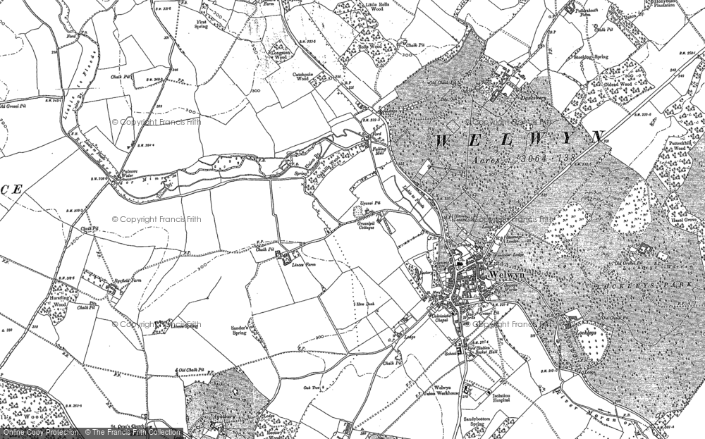 Old Map of Welwyn, 1897 in 1897