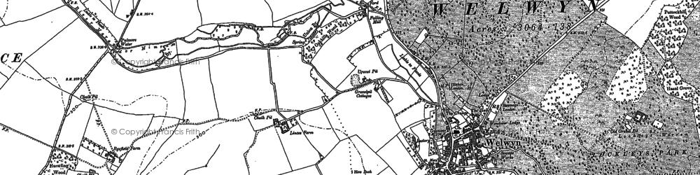 Old map of Welwyn in 1897