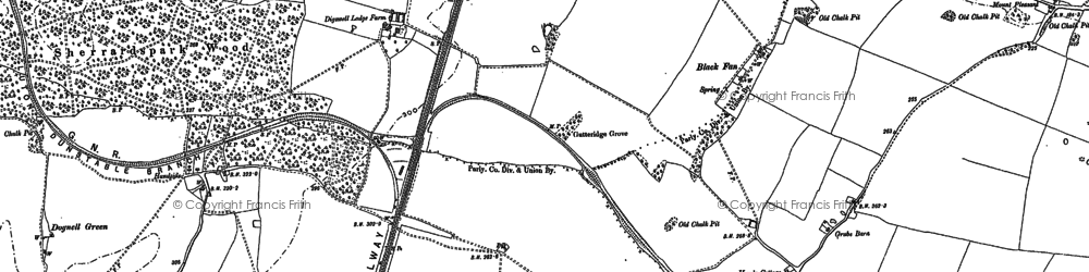 Old map of Panshanger in 1897