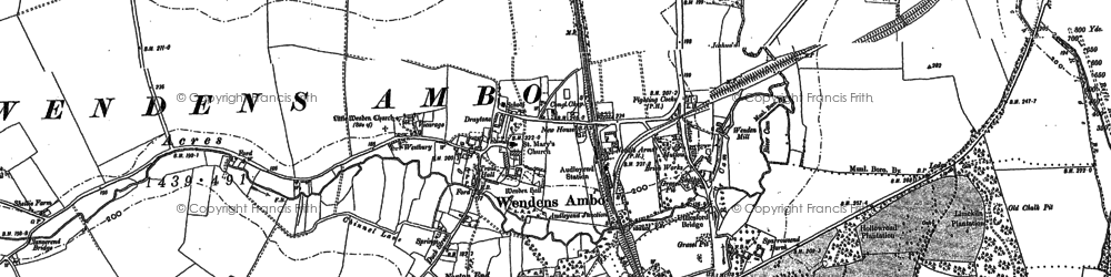 Old map of Audley End Sta in 1896