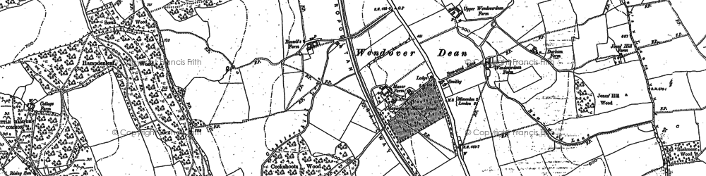 Old map of Woodlands Park in 1897