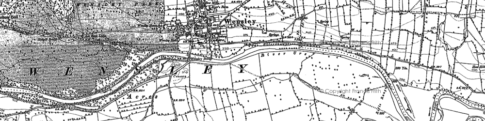 Old map of Wensley in 1891