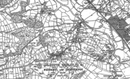 Old Map of Wensley, 1898