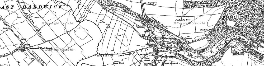 Old map of Wentbridge in 1890
