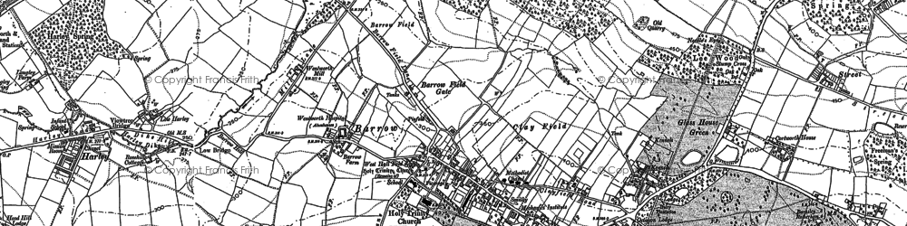 Old map of Wentworth in 1890