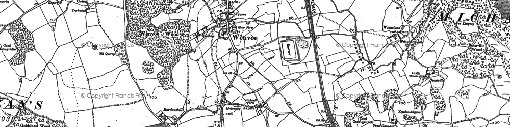 Old map of Wenvoe in 1898