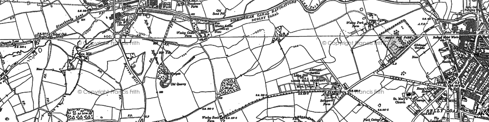 Old map of Woodcock Hill in 1882