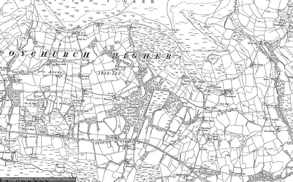 Old Map of Wern Tarw, 1897 in 1897