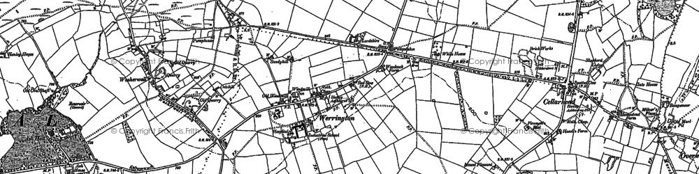 Old map of Windicott in 1879