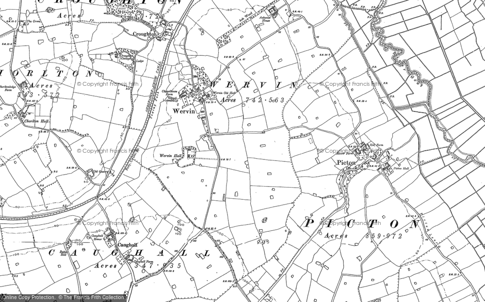 Old Map of Historic Map covering Ashwood Ho in 1898