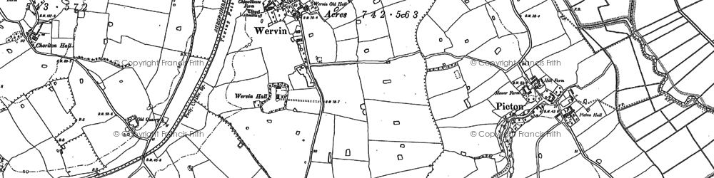 Old map of Ashwood Ho in 1898