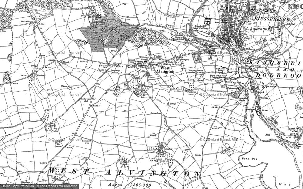 Old Map of Historic Map covering Auton in 1884