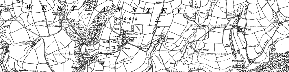 Old map of Yeo Mill in 1902