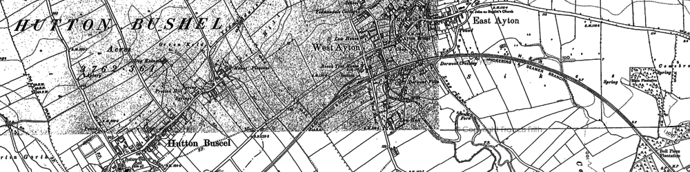 Old map of West Ayton in 1889