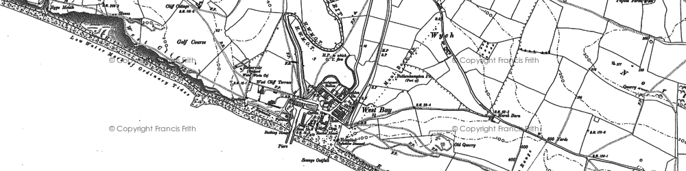 Old map of West Bay in 1901