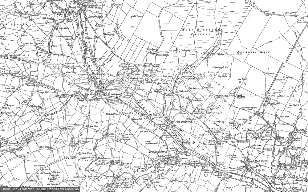 Old Map of West Blackdene, 1895 - 1896 in 1895